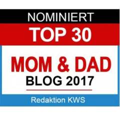 Nominiert für Award Top 30 MOM & DAD Blogs