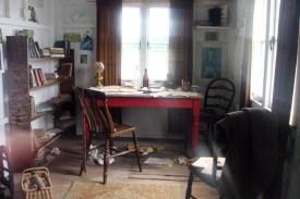 In einer Garage befand sich Thomas' Schreibwerkstatt und Ausnüchterungszelle.