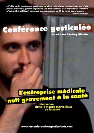 Poitiers 13 octobre. Conférence gesticulée : L'entreprise médicale nuit gravement à la santé