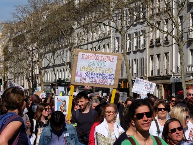 J'étais à la manifestation parisienne pour l'Éducation nationale