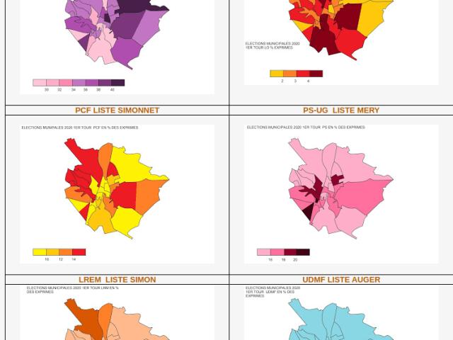 Cartographie du premier tour des élections municipales à Poitiers, Châtellerault et dans la Vienne