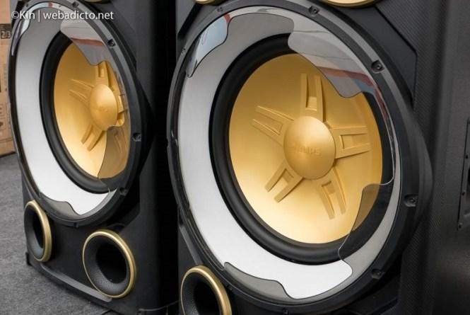 equipo de sonido philips nitro nx9 - subwoofer