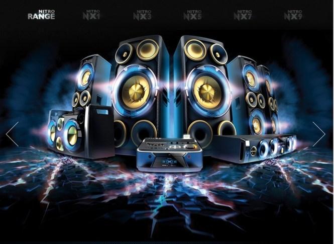 familia de equipos de sonido philips nitro