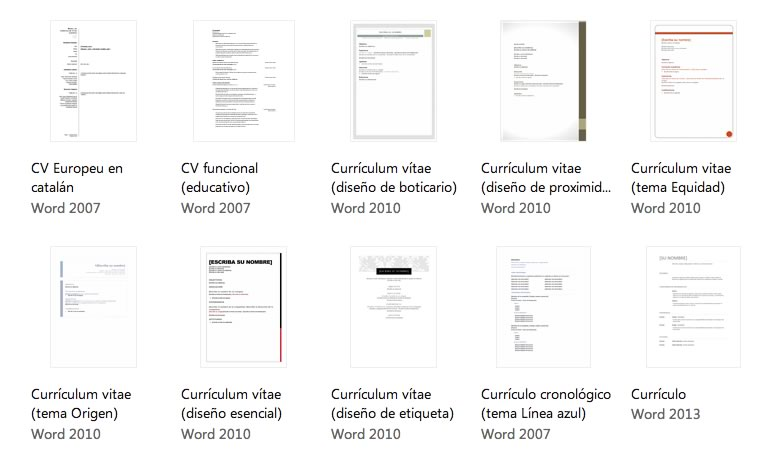 curriculum word Plantillas de curriculum en Word, descárgalas y crea tu currículum