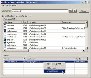 Desbloquear archivos y carpetas en Windows