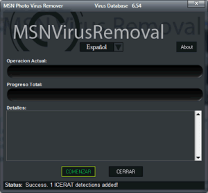 Eliminar virus msn, con MSN Photo Virus Remover
