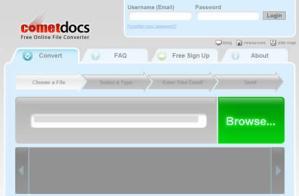 Convertir archivos online con CometDocs