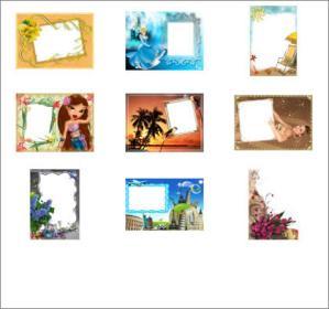 Marcos para fotos en Loonapix Framer