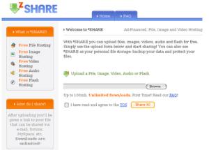 Compartir y respaldar archivos en zSHARE