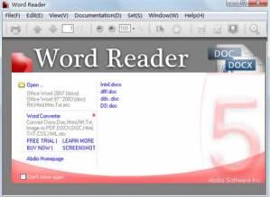 Abrir archivos de word sin office con Word Reader