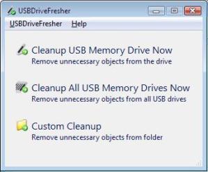 Eliminar archivos innecesarios memorias USB con USBDriveFresher