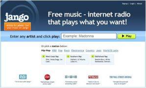 Escuchar música gratis en Jango.com