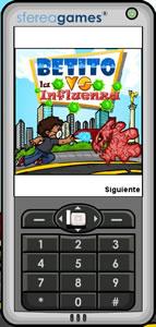 Juegos para celular, Betito vs la influenza