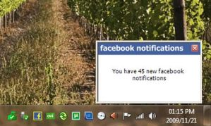 Notificaciones facebook en tu escritorio