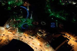 Logo de Google formado por 2000 LEDs