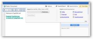 Typewith.me un poderoso editor de texto cooperativo online