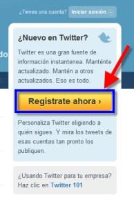 Como crear una cuenta en Twitter