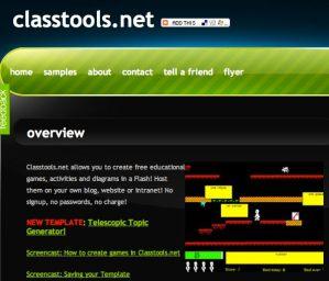 Classtools.net, un sitio para crear juegos educativos