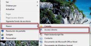 Como crear el acceso directo de Flip 3D en Windows