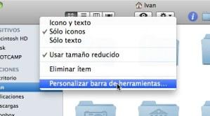 Como personalizar las Barras de Herramientas de Mac