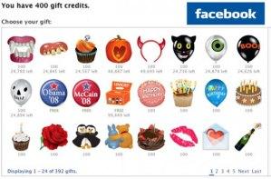 Los regalos virtuales de Facebook han llegado a su fin