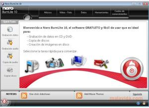 Grabar CDs y DVDs con Nero BurnLite 10