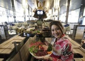 Restaurante atendido por robots