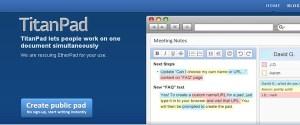 Edita textos en linea y en equipo con TitanPad
