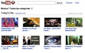 Videos de musica en Youtube