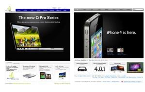 QINGTING la copia del sitio de Apple (con todo y productos)