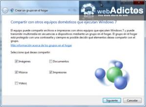 Crear un Grupo en el Hogar en Windows 7