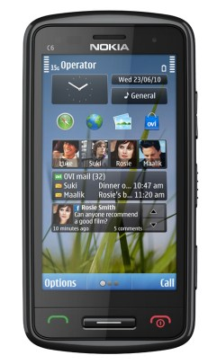 Nokia E7, Nokia C6 y Nokia C7 - Nokia-C6-05