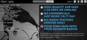 Escuchar musica online en FilterMusic