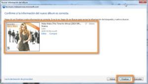 Colocar ilustraciones de los álbumes en Windows Media Player