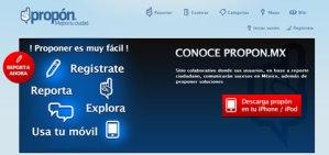 Propon.mx, denuncias y propuestas ciudadanas