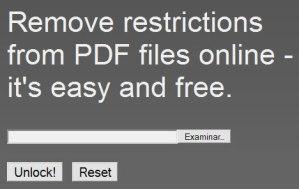 Desbloquear PDFs con PDFUnlock!