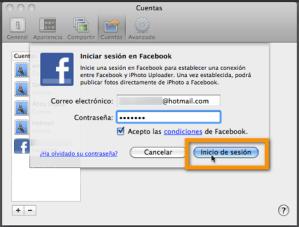 Como añadir tu cuenta de Facebook a iPhoto 11