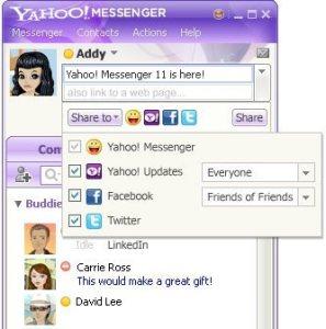 Yahoo Messenger Beta integra Twitter y Zynga