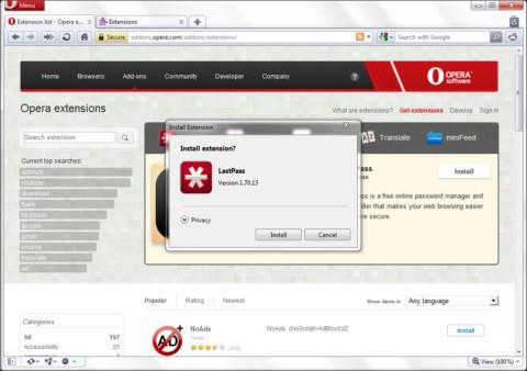 Opera 11 disponible para descargar - opera11-windows-extenions-3