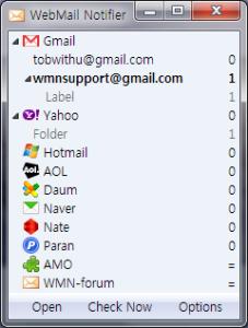 Checar hotmail y otros con WebMail notifier