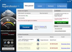 Optimizar el registro de Windows con Uniblue RegistryBooster