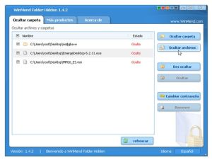 Ocultar carpetas o archivos en Windows con Winmend Folder Hidden