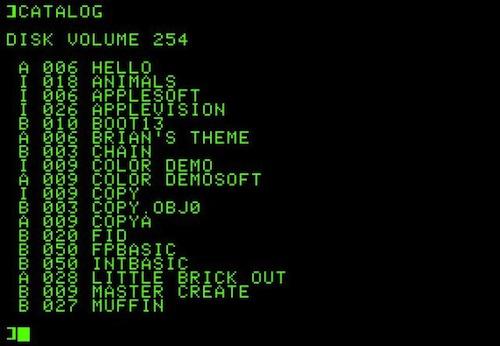 1978 Apple II DOS 3 0 La historia de Mac OS X en imágenes