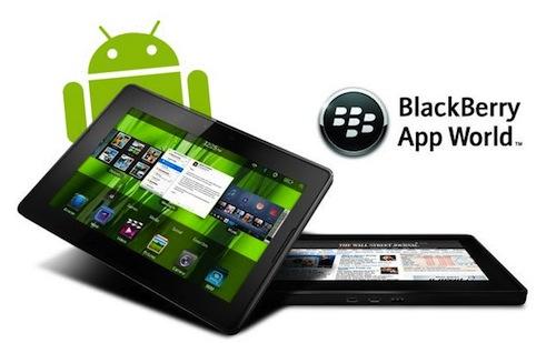 Aplicaciones de Android podrán ejecutarse en la PlayBook de RIM - blackberry-android