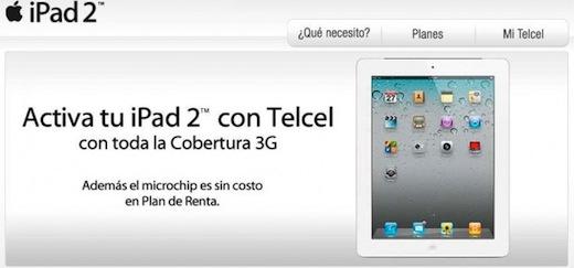 Precios y Planes para el iPad 2 con Telcel