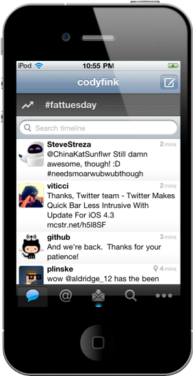 Twitter remueve la barra Quickbar en su última actualización para iPhone - quickbar-twitter-removed