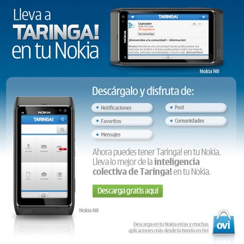 taringa nokia Taringa! en tu Nokia