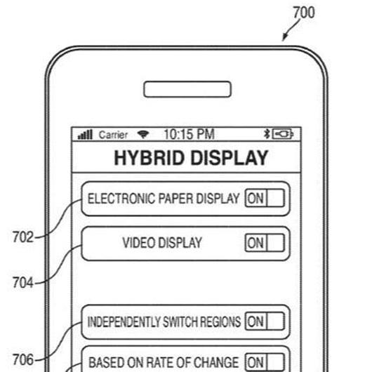 Apple patenta una pantalla híbrida de LCD/ePaper - Apple-Screen