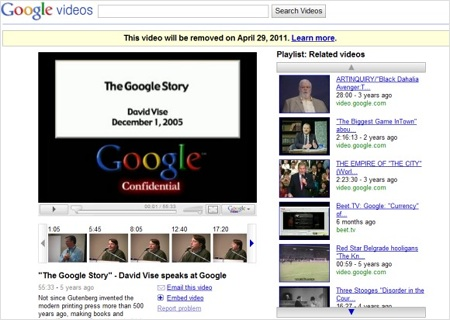 Google Video Google decide ponerle fin a Google video