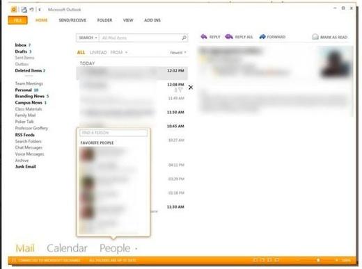 El nuevo Microsoft Office (15) utilizará la interfaz Metro - Outlook-con-la-interfaz-Metro-Office-15